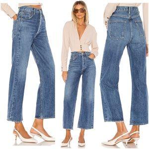 AGOLDE Ren High Rise Wide Leg Jeans Censor